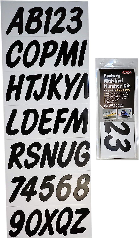 Letter Registration Sticker Decals-Factory Matched Number Kit