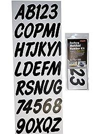 Hardline Products BLK400EC Solid Black Number Factory Matched Registration Kit