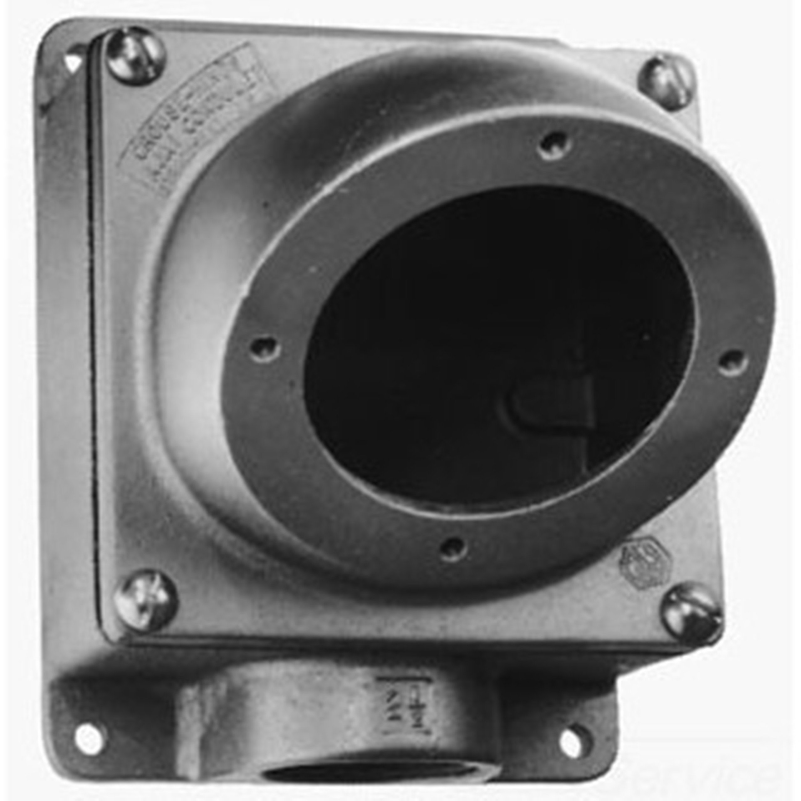 Crouse-Hinds AJ68 2-Inch Back Box With Angle Adapter For 200A Receptacle Housing by Crouse-Hinds