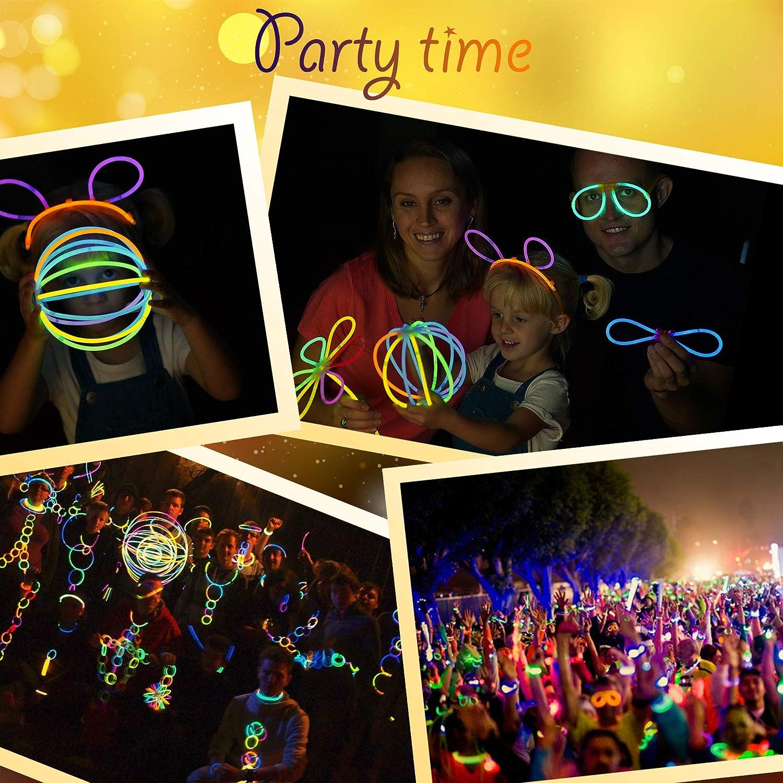 Eurostar Ventures Multicolor Glow Sticks Bulk Party Pack Non Toxic 233 Pieces Light Stick Set