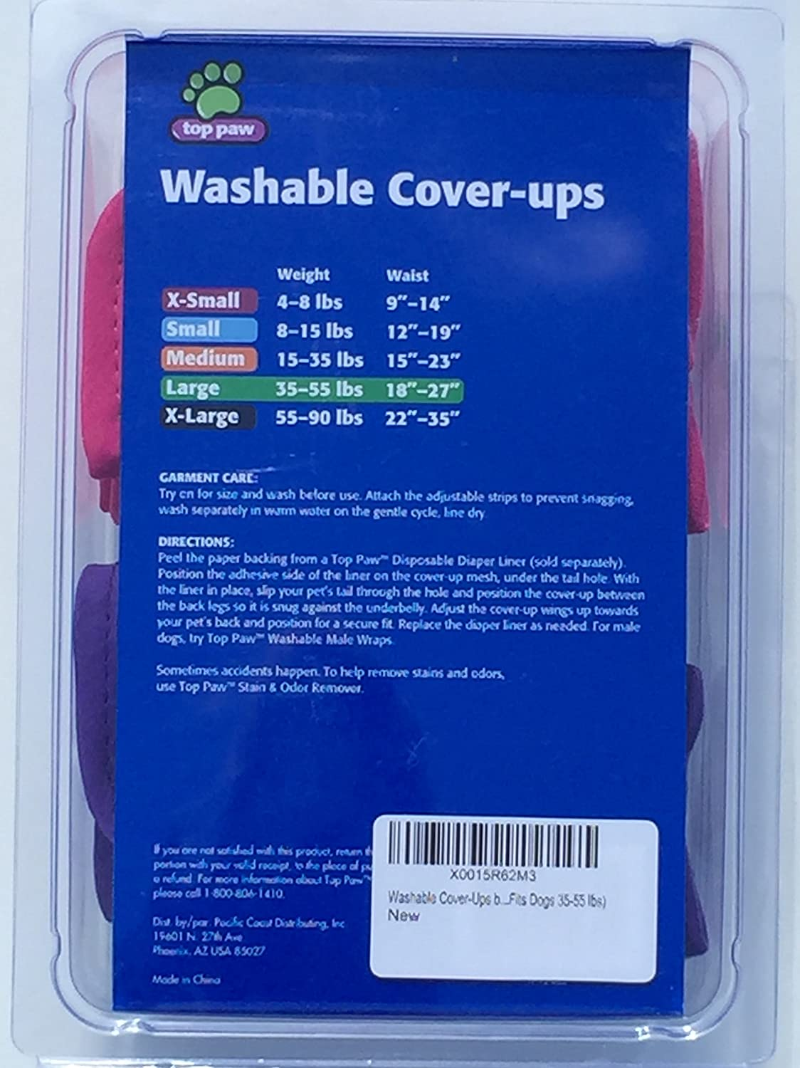 Amazon.com : Washable Cover-Ups by Top Paw - Size Large (Fits Dogs ...