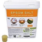 Nortembio Sale di Epsom 6 kg. Nuova Fragranza di Vaniglia e Cannella. Idratata con Vitamina C ed E. Sali da Bagno e Cura Personale.
