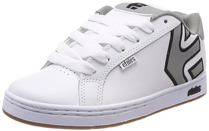 Etnies Fader Sneakers Skateboardschuhe Herren Weiß (graues Logo)