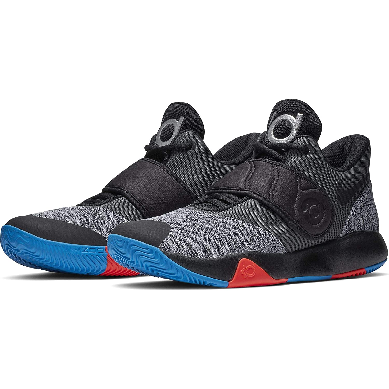 san francisco 1ec61 29023 Amazon.com   Nike Men s KD Trey 5 VI Basketball Shoe Black Chrome Photo  Blue Bright Crimson Size 14 M US   Running