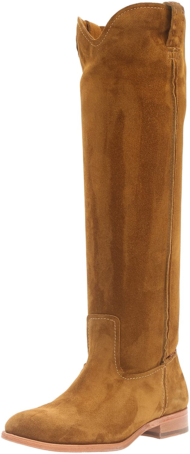 FRYE Women's Cara Tall Suede Slouch Boot B01AA8LN98 9 B(M) US|Wheat