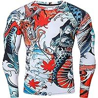 Cody Lundin Camisa de compresión para hombre, camiseta de compresión con estampado 3D, camiseta de manga larga, camiseta…