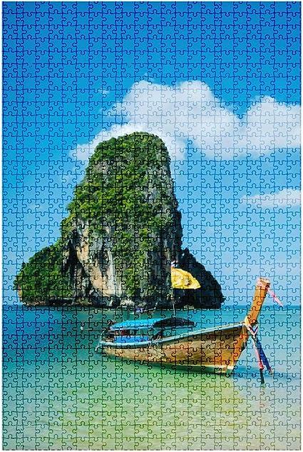 New Educational 1000 Piece Tropical Beach Puzzles Toys Landscape Adults Kids