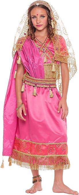 chiber Disfraces Disfraz de Chica Hindú para Niña (Talla 7 (6-7 ...