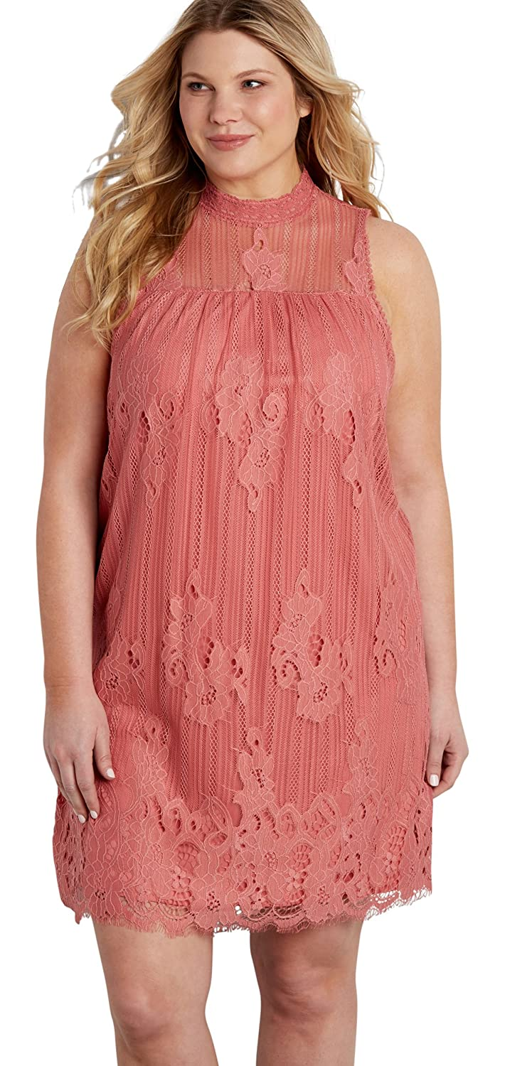 Maurices Women\'s Plus Size Lace Shift Dress With High ...