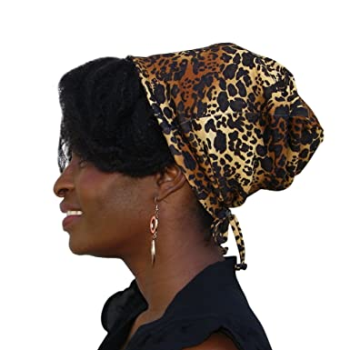Satin Life ADJUSTABLE DRAWSTRING Patterned Satin Lined Hat Cap Beanie ... -  Multicoloured - 200f50418d7c