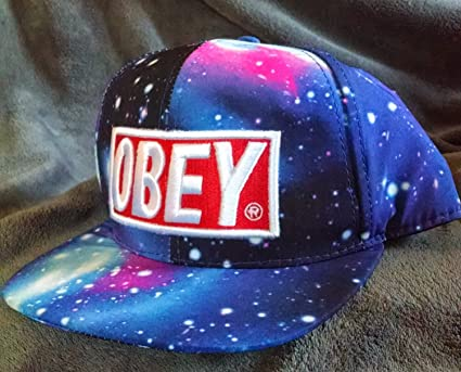 Obey Galaxy Caps Adjustable Hip Pop Baseball Snapback Hats  Amazon.co.uk   Kitchen   Home 2a742c7ff58