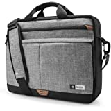 Tomtoc 15.6-Inch Laptop Shoulder Bag with 360º Protective Laptop Compartment Multifunctional Messenger Bag Briefcase for 15-15.6 Inch HP Dell Acer Lenovo Asus Samsung Notebook Tablet,