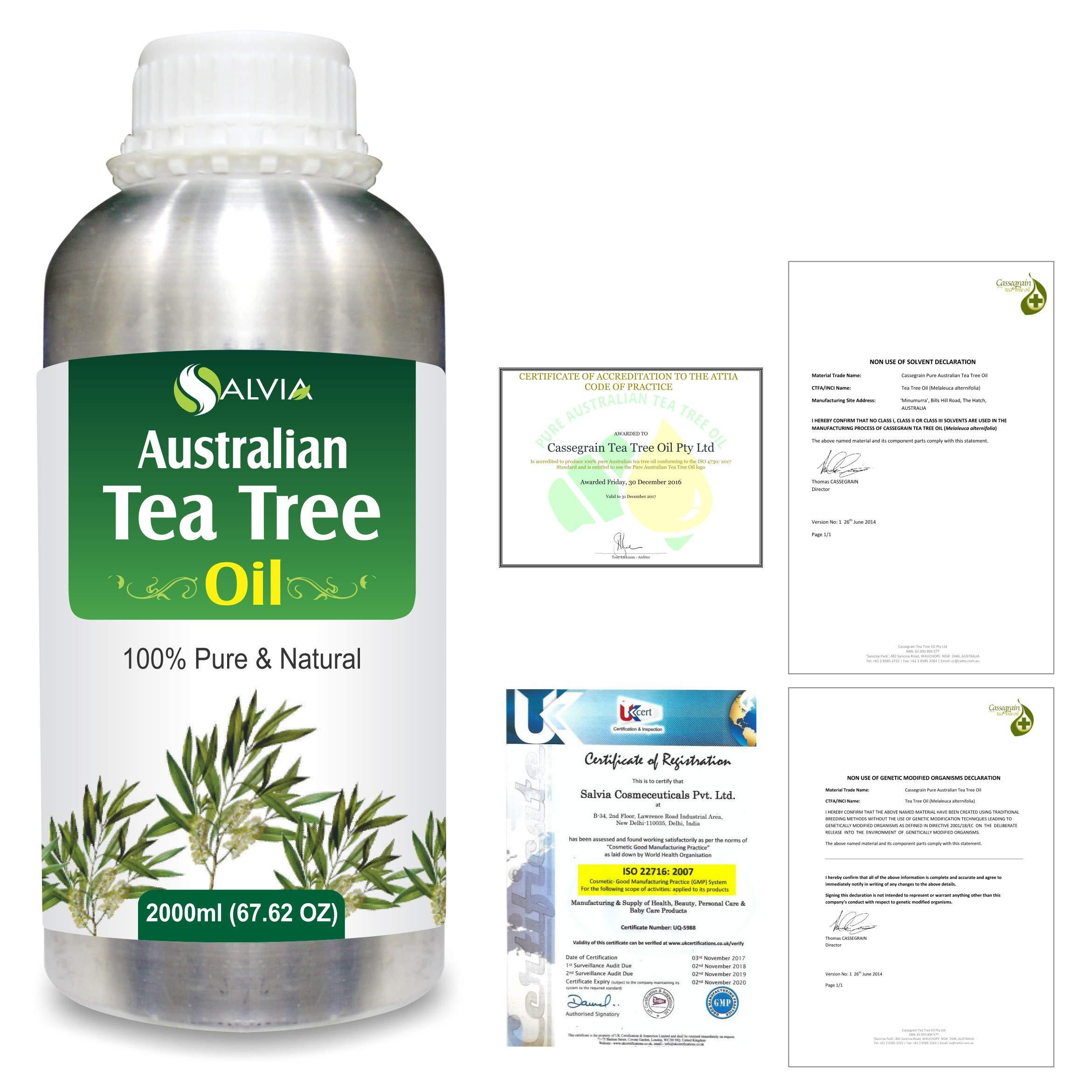 Tea Tree (Melaleuca alternifolia) 100% Pure Australian Certified Non GMO Essential Oil 2000ml/67.6 fl. oz. Express Shipping