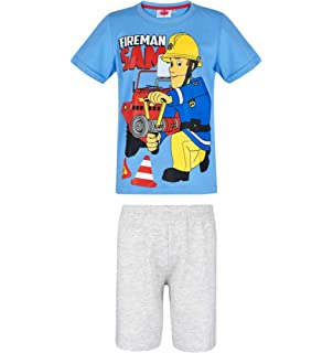 680237740e Feuerwehrmann Sam - Kinder Shorty Pyjama - Schlafanzug Kurz Gr. 92 ...