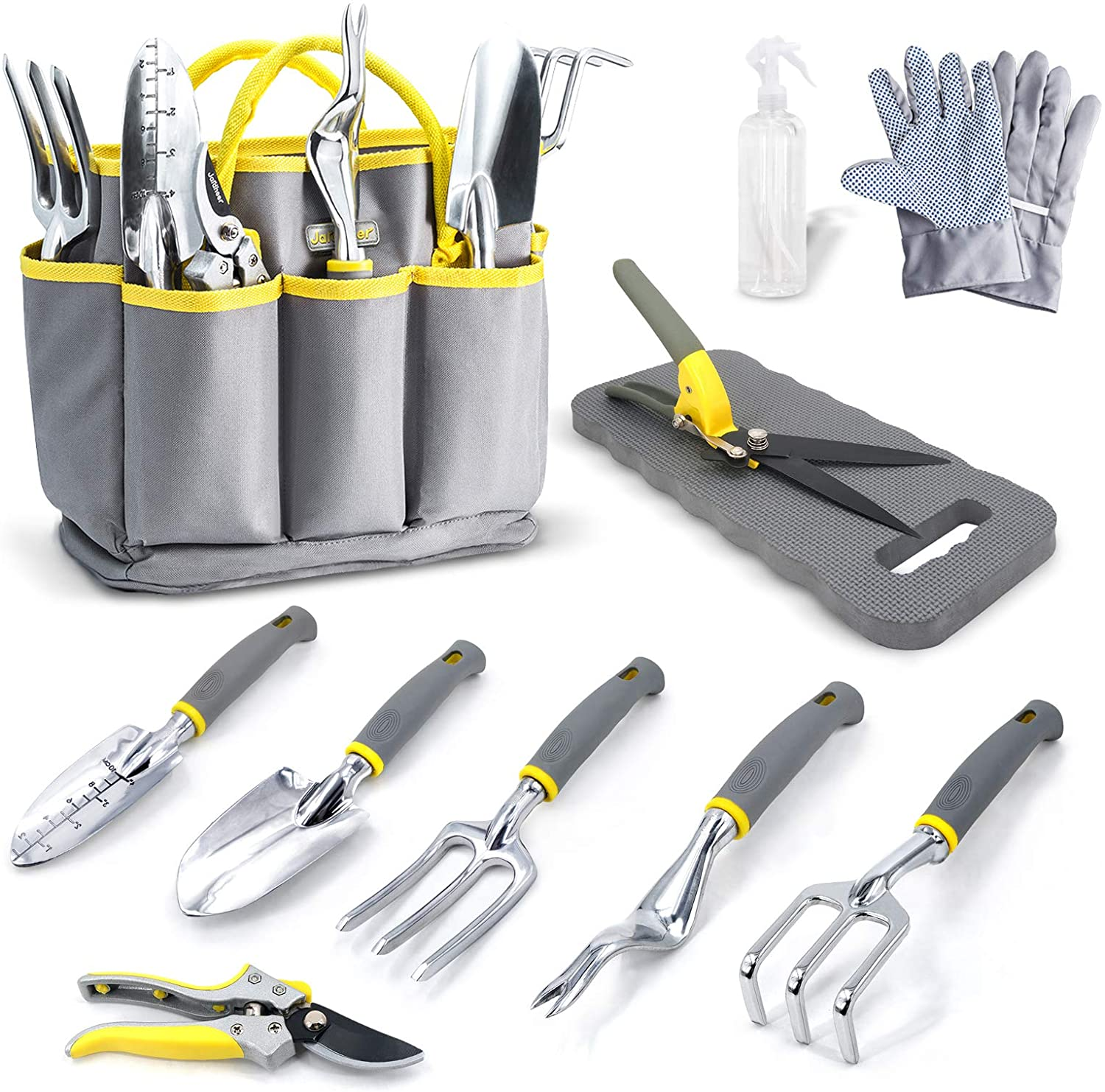 with Garden Gloves /& Garden Handbag and More Heavy Duty Gardening Tools Kits 11 Pieces Ulike Garden Tool Set Gardening Gifts for Woman