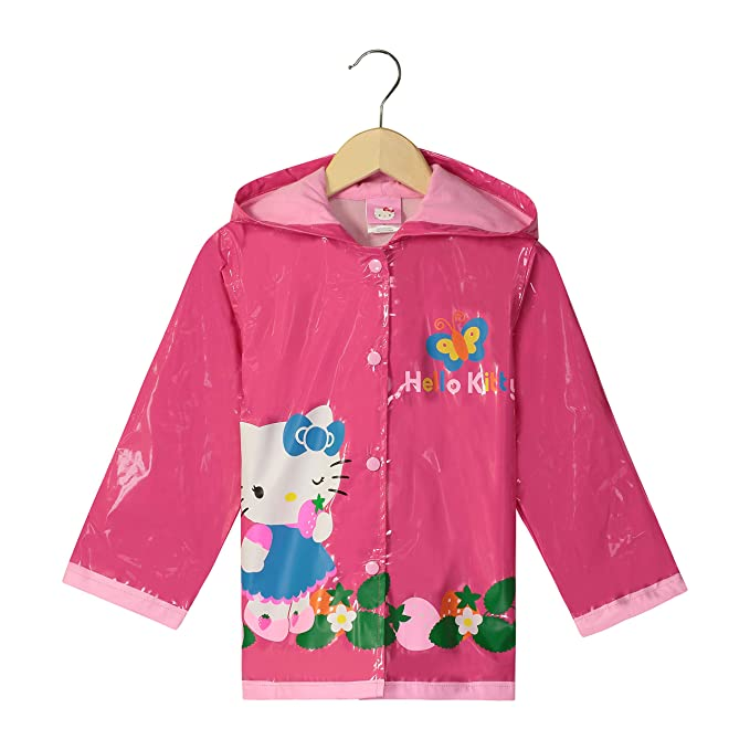 extremely unique large discount latest sale SANRIO Hello Kitty Little Girls' Waterproof Outwear Hooded Rain Coat -  Toddler