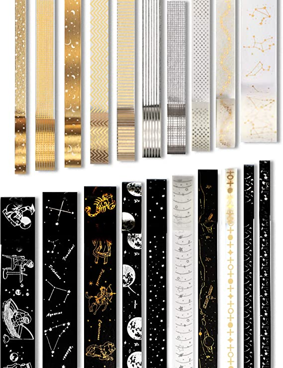 Bujo Decorations Washi Tape Samples metallic tape Crafting Tape Narrow washi tape Recollections Rose Gold Foil Planner Washi