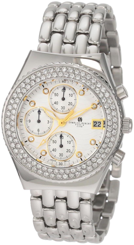 Damen Charles - Hubert Stainless Steel - Crystal Bezel Chronograph Armbanduhr