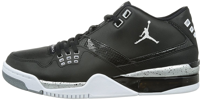 the latest 6d929 04ee9 Amazon.com   Jordan Nike Men s Flight23 Black White Metallic Silver  Basketball Shoe 12 Men US   Basketball