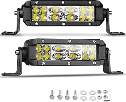 LED Light Bar YITAMOTOR 2Pcs 36W 5 Inch LED Light Pods Spot Flood Combo Off Road