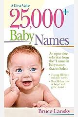 25,000+ Baby Names Kindle Edition
