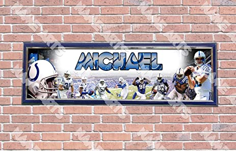 Amazon.com: Personalized / Customized Indianapolis Colts Name Poster ...
