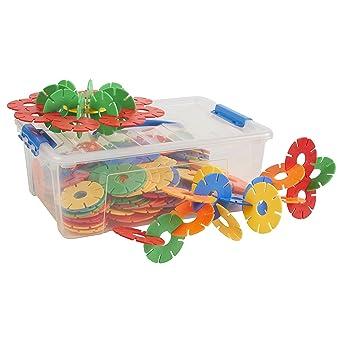 ECR4Kids Jumbo Connect-a-Cog Math Manipulatives Kit de construcción, juguetes educativos sensoriales