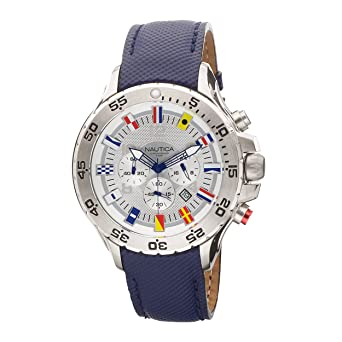 ddd44599dbd Image Unavailable. Image not available for. Color  Nautica Men s N16530G NST  Chronograph Blue Polyurethane Watch