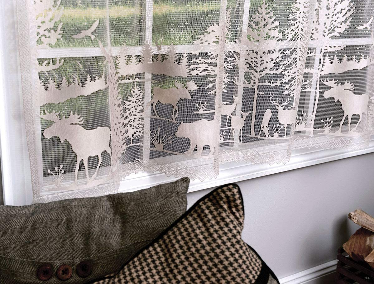 BLACK FOREST DECOR Wilderness Retreat Lace Window Panel – 63 Inch – Overstock