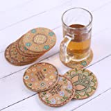 Natural Cork Coasters for Drinks - Set of 12 and 4
