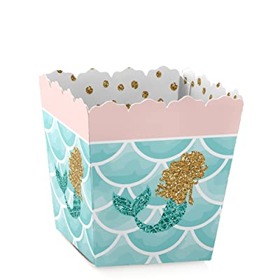 Let's Be Mermaids - Party Mini Favor Boxes - Baby Shower or Birthday Party Treat Candy Boxes - Set of 12: Toys & Games