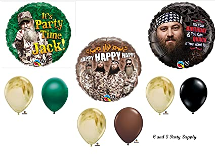 Image Unavailable. Image not available for. Color: DUCK DYNASTY Camouflage Happy Birthday Party ...