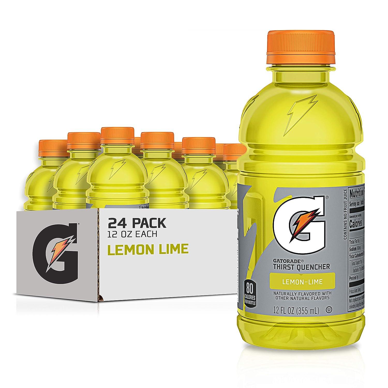 Gatorade Thirst Quencher, Lemon-Lime, 12 Fluid Ounce Bottles,Pack of 24