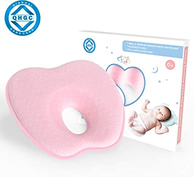 Baby Flat Head Pillow Memory Foam Soft Baby Pillow for Newborn Prevent Flat Head /& Plagiocephaly Mom Gift for Infants Baby Boy /& Girl G-Tree Baby Head Shaping Pillow