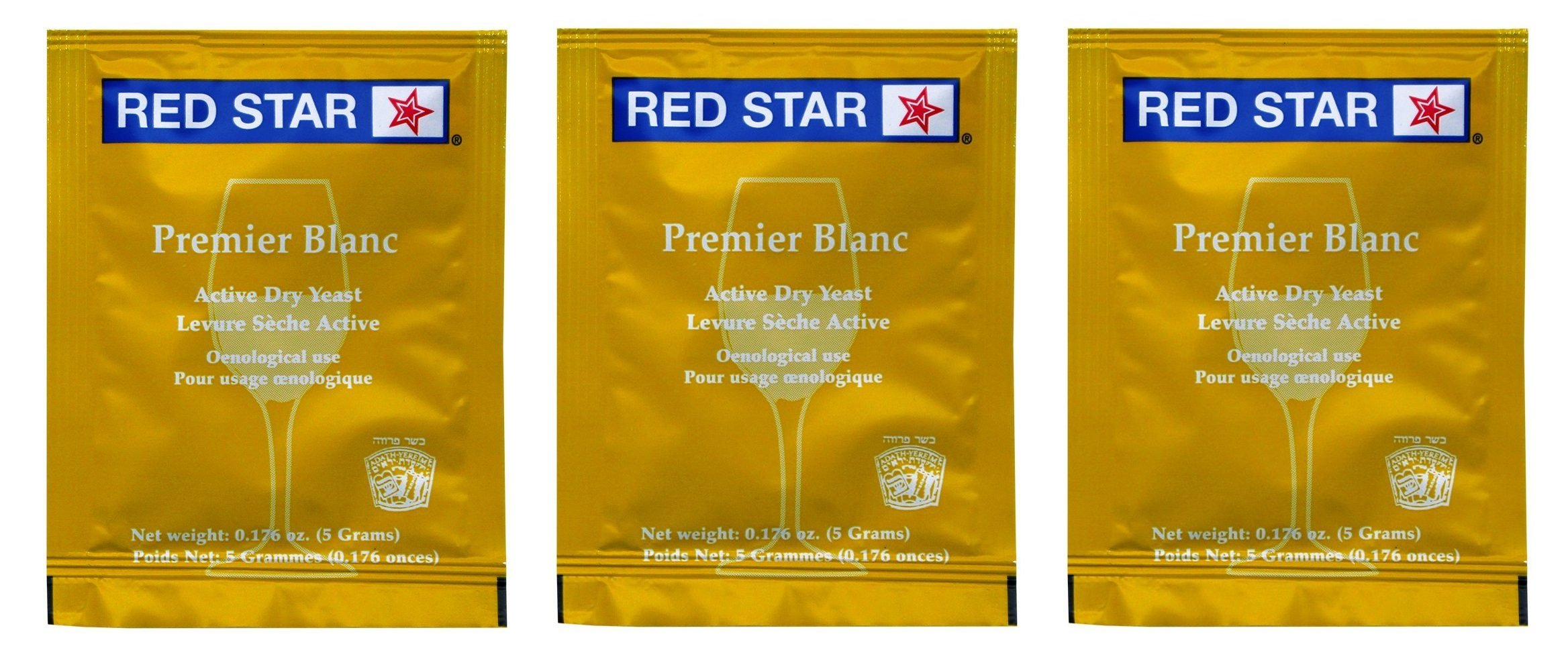 Premier Blanc Champagne Yeast, 3 Pack