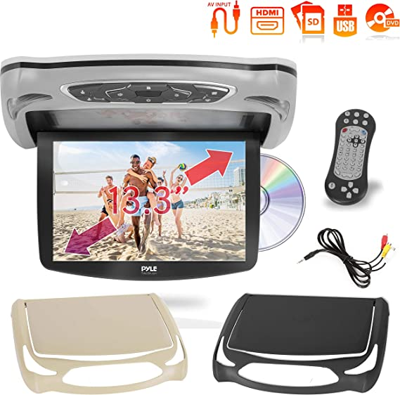 overhead dvd player wiring diagram amazon com car roof mount dvd player monitor 13 3 inch vehicle  car roof mount dvd player monitor 13 3