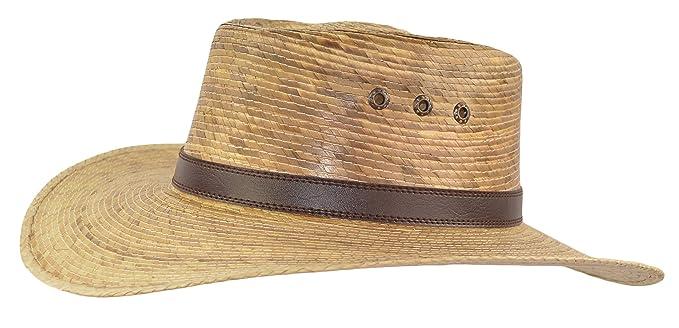 Mexican Palm Leaf Straw Gambler Bolero Sun Hat 1d48ec34a50