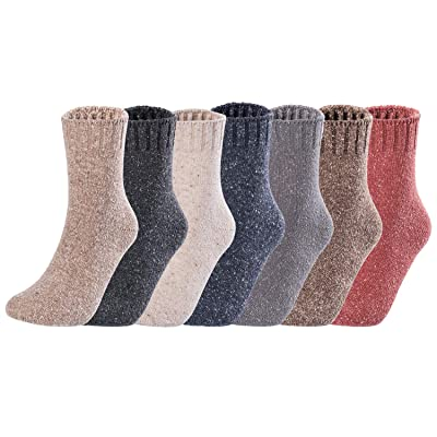 Lovely Annie 5 Pairs Latest Fashion Splendid Comfortable Big Girls Women's Cotton Crew Socks L1859 Size 5-11 5P5C-Assorted at Women's Clothing store