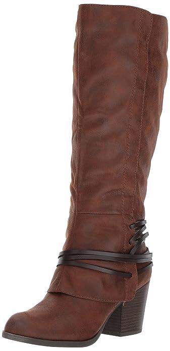 Fergalicious Women's lexis Wide Calf Western Boot, Cognac, ...