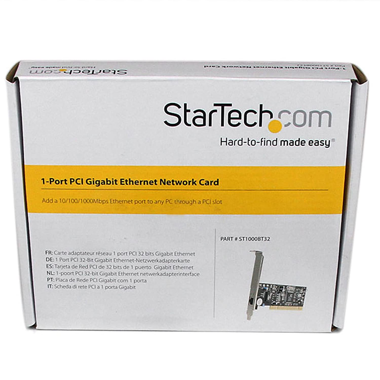 StarTech.com 1 Port PCI 10/100/1000 32 Bit Gigabit Ethernet Network Adapter Card (ST1000BT32)