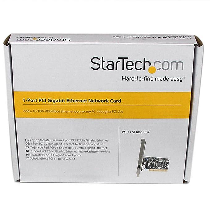 StarTech.com 1 Port PCI 10/100/1000 32 Bit Gigabit Ethernet Network Adapter Card (ST1000BT32)