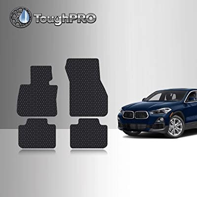 TOUGHPRO Floor Mat Accessories Set Compatible with BMW X2 - All Weather - Heavy Duty - (Made in USA) - Black Rubber - 2020, 2020, 2020 (Front Row + 2nd Row): Automotive