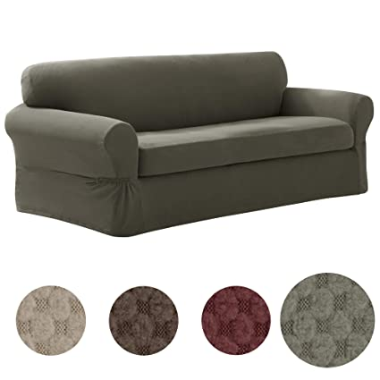 Amazon Com Maytex Pixel Ultra Soft Stretch Sofa Couch Furniture