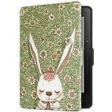 柏图 适配Kindle Voyage 保护套 亚马逊1499元版Kindle 航行保护壳 KV珍藏版亚马逊电子书阅读器皮套 轻薄休眠保护包清新 文艺 纤薄彩绘皮套 KV-09 萌兔