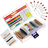 600pcs 30 Kinds Each Value Metal Film Resistor Pack 1//4W 1/% Resistor Kit E0Xc