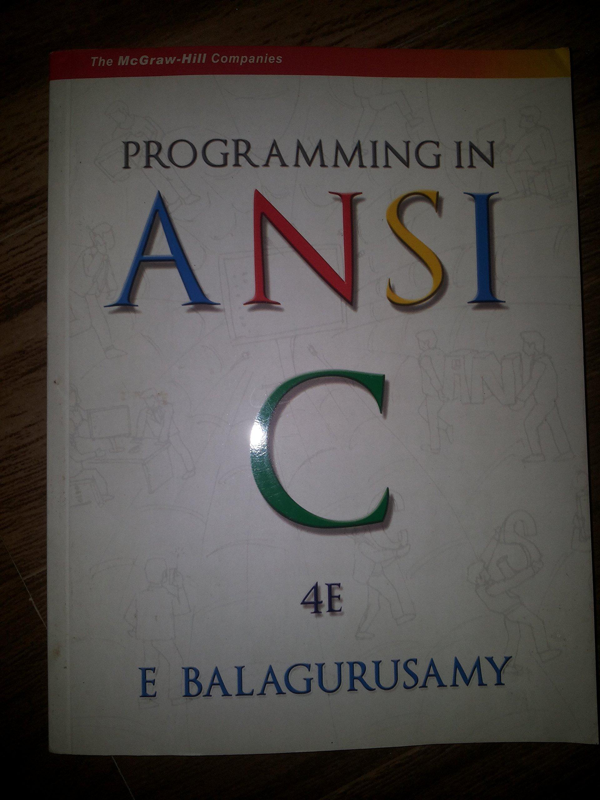 programming in ansi c 4th edition pdf download