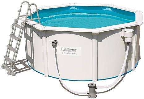 Bestway 56563 hydrium Pool Set Ø300 X 120 Cm, Acero Pared Piscina con Bomba de