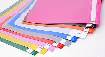 cartelle file con copertina trasparente Cartelline A4 copertine protezione file 50 pezzi cartella progetto 10 colori file copertina progetto in pellicola di PP