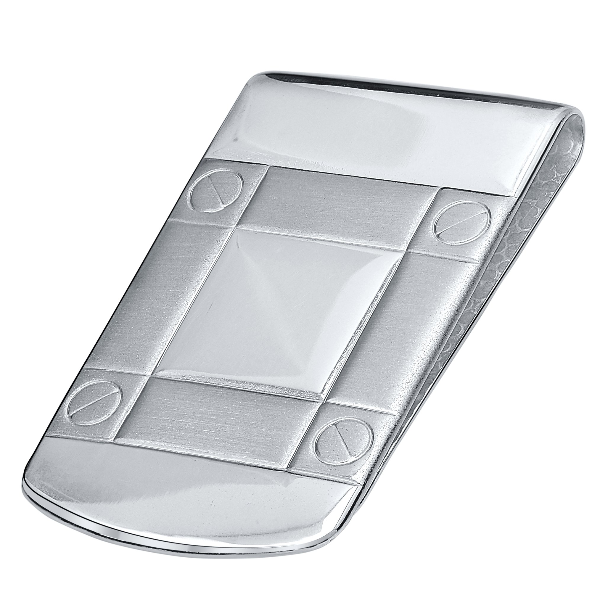 Sterling Silver .925 Wide Solid Design Engravable Money Clip, Designed and Made In Italy. By Sterling Manufacturers by Sterling Manufacturers (Image #1)