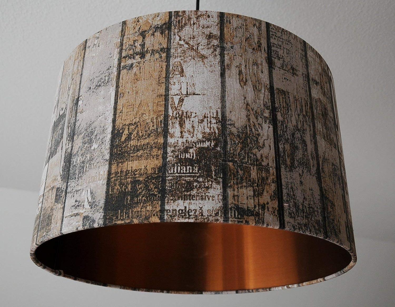 LampenschirmShabby Chic-Kupfer(Grau-Braun) D 40cm. Farbe und Größe auf Anfrage